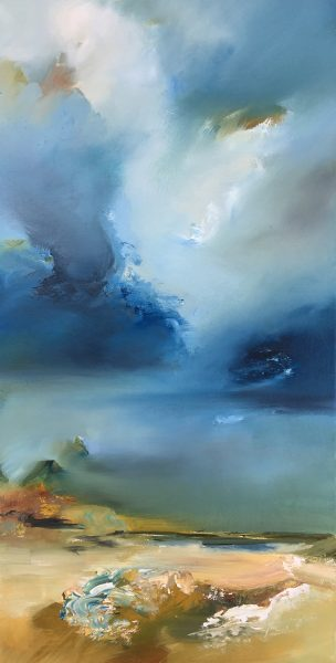 Joanne Duffy Landscape and Cloud oil on canvas 60 x 30 cm 2016 3377