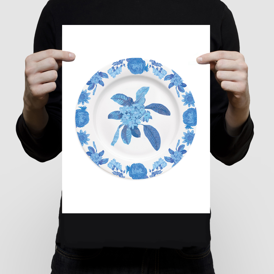 fineartchintzplateprint-frangipani11x14