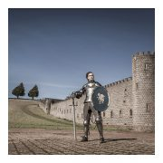 Nathan Curnow as medieval knight
