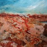 """In the Desert I can Remember my Name"". Abstract Australian landscape."