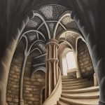 Grand Gothic Entrance Painting