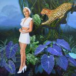 Hollywood Original Painting on Canvas – Huntress II