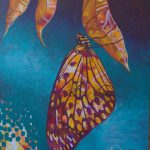 Butterfly Heart – original acrylic painting