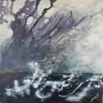 """Storm over Sea"" a seascape"