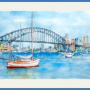 beautiful-sydney-bridge-blue-frame