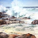 """A blue Wave"" – Maroubra Beach – Mahon pool – Storm"