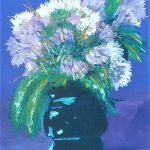 A Flowers in green vase. Featured in Australian Art Magazine.