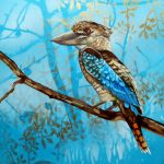 Feathery All-sorts No 1 - Blue Winged Kookaburra