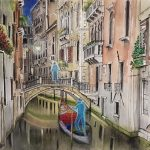 LTD ED Print Venice By Night Ghosts
