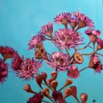 Pink Gum Blossoms Oil Painting