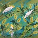 White Galahs and Banksias