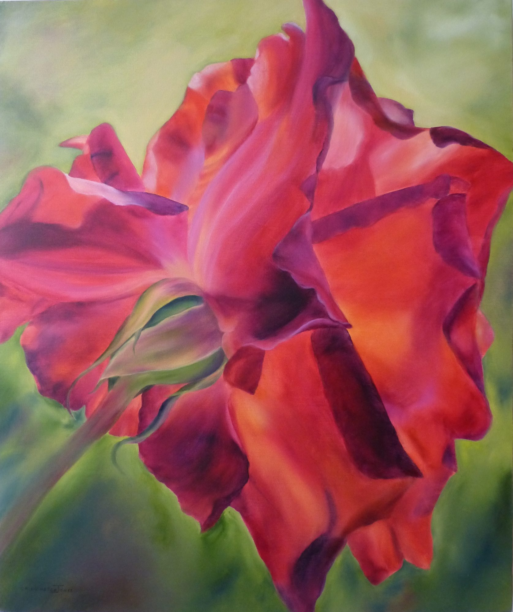 a-fiery-beauty-oil-clare-riddington-jones-76cm-x-90cm