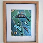 "Framed Aboriginal ""Dolphin Children"" Limited Edition Print"