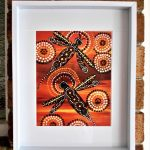 Dragonfly over Desert Heat Framed Ltd Ed Print
