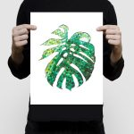 Woven mostera leaf 11×14″ limited edition print