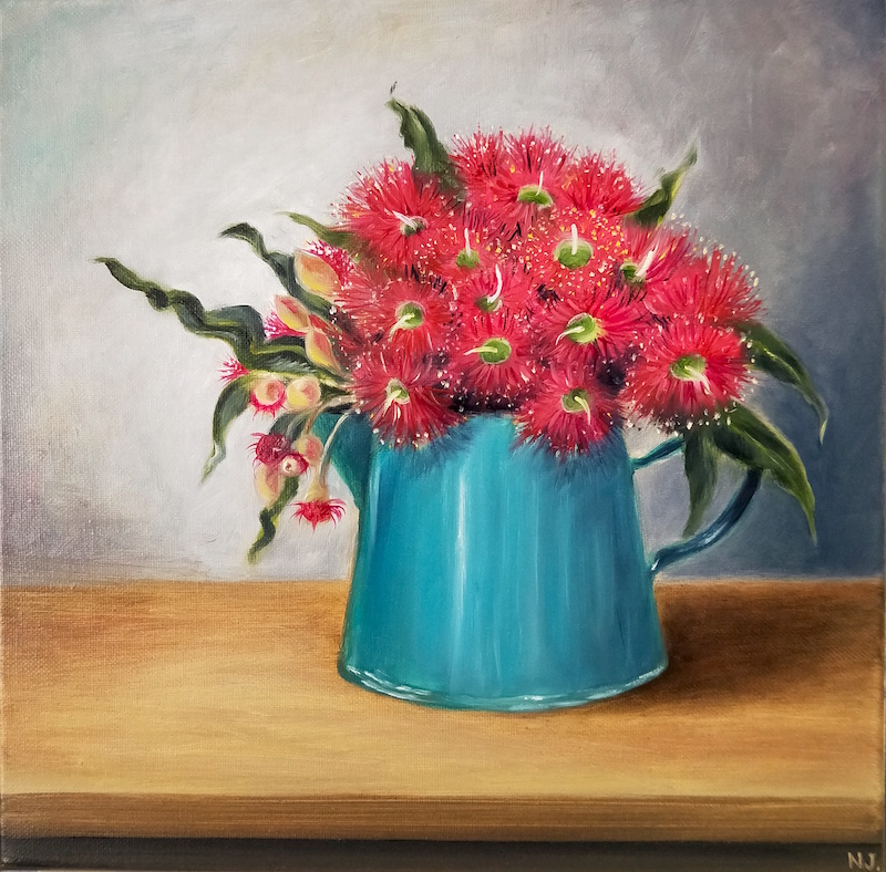 Gum flower in a jug s