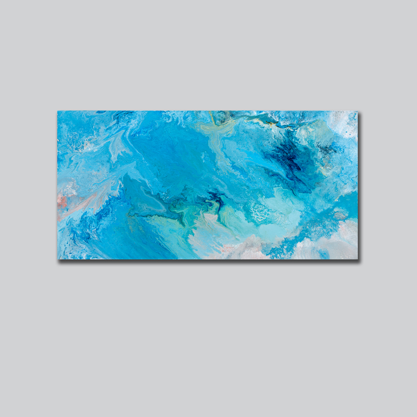 Aqueous Flow I, grey background