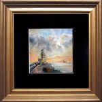 """Lighthouse"" – Miniature seascape – framed"