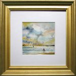 """Morning Swimming"" – Miniature seascape – framed"