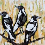 A Charm of Magpies in the Grass