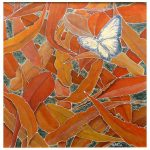 Butterfly on Autumn Leaves