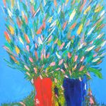 Red and Blue Vases