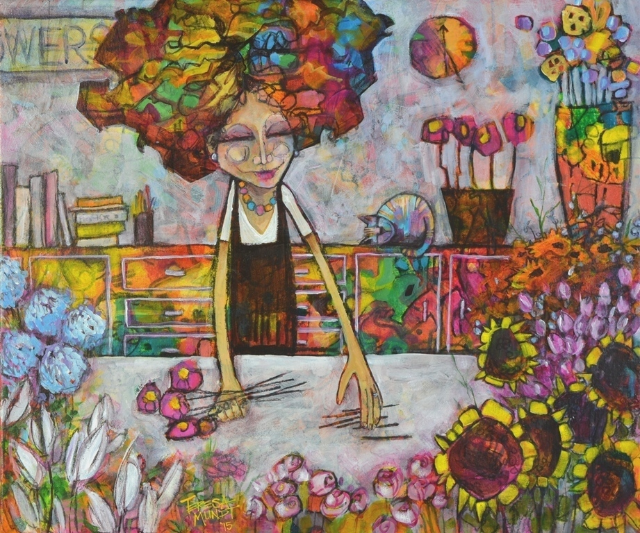 Florist's Apprentice by Teresa Mundt_colourful_colorful_abstract_floral_flower_painting