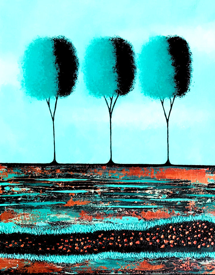 I Love Teal And Copper no.2 by Lisa Frances Judd B TOP