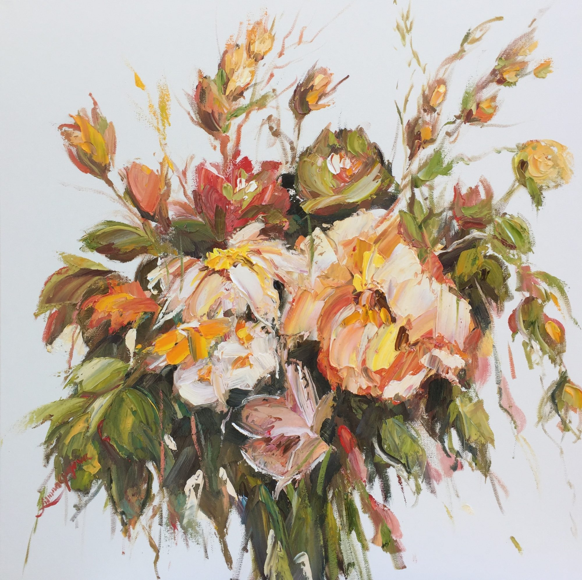 40- An autumn touch,61x61cm, $700