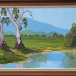 Gum Trees by the Waterhole
