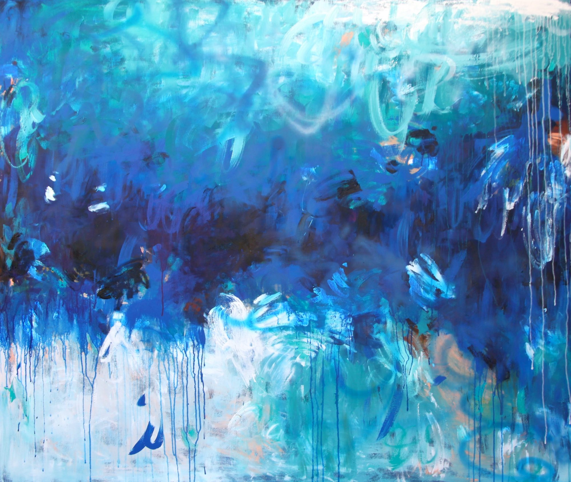 belinda-nadwie-art-painting-abstract-in the blue of my oblivion