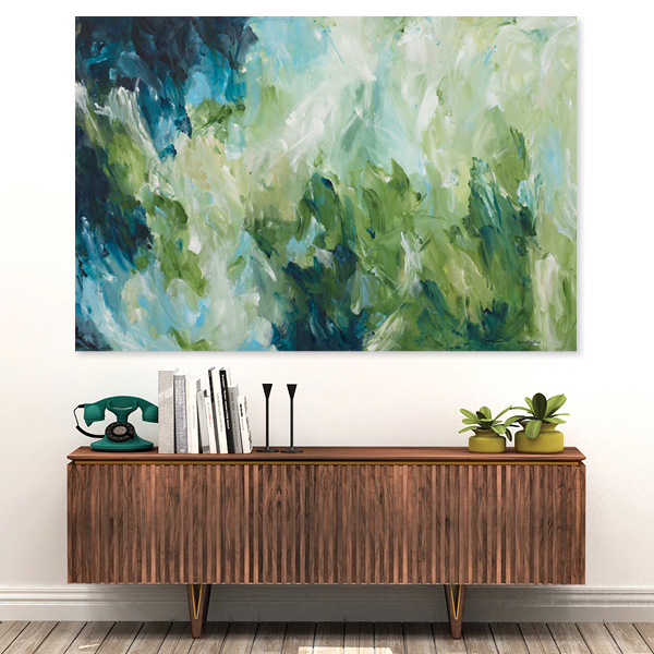 Sapphire Plains Abstract painting. Amber Gittins. Expressionist Painting