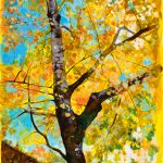 Golden Canopy in Changing Seasons