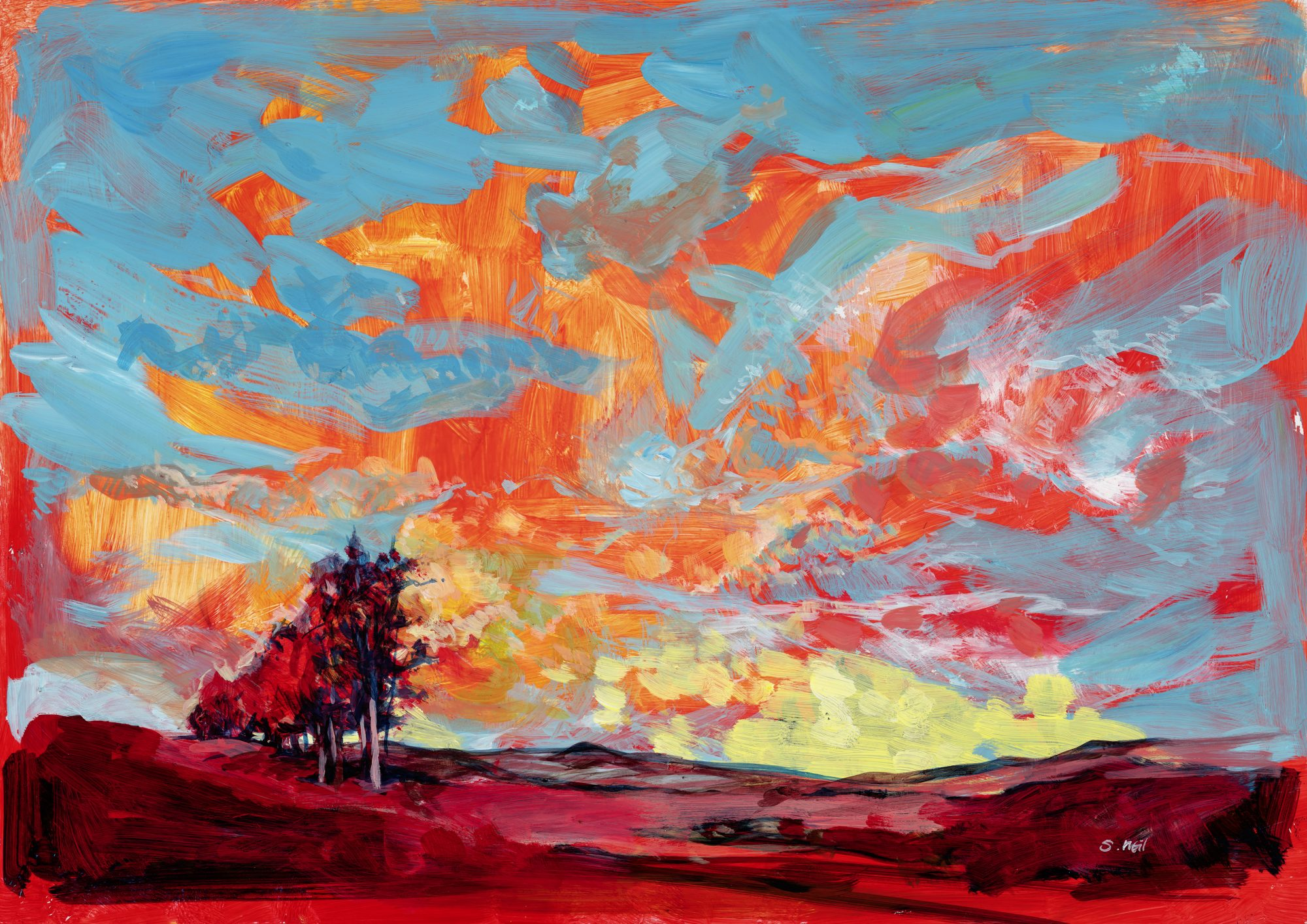 Scott_Neil_001_Red-Earth-And-Blue-Sky_30cm Promo