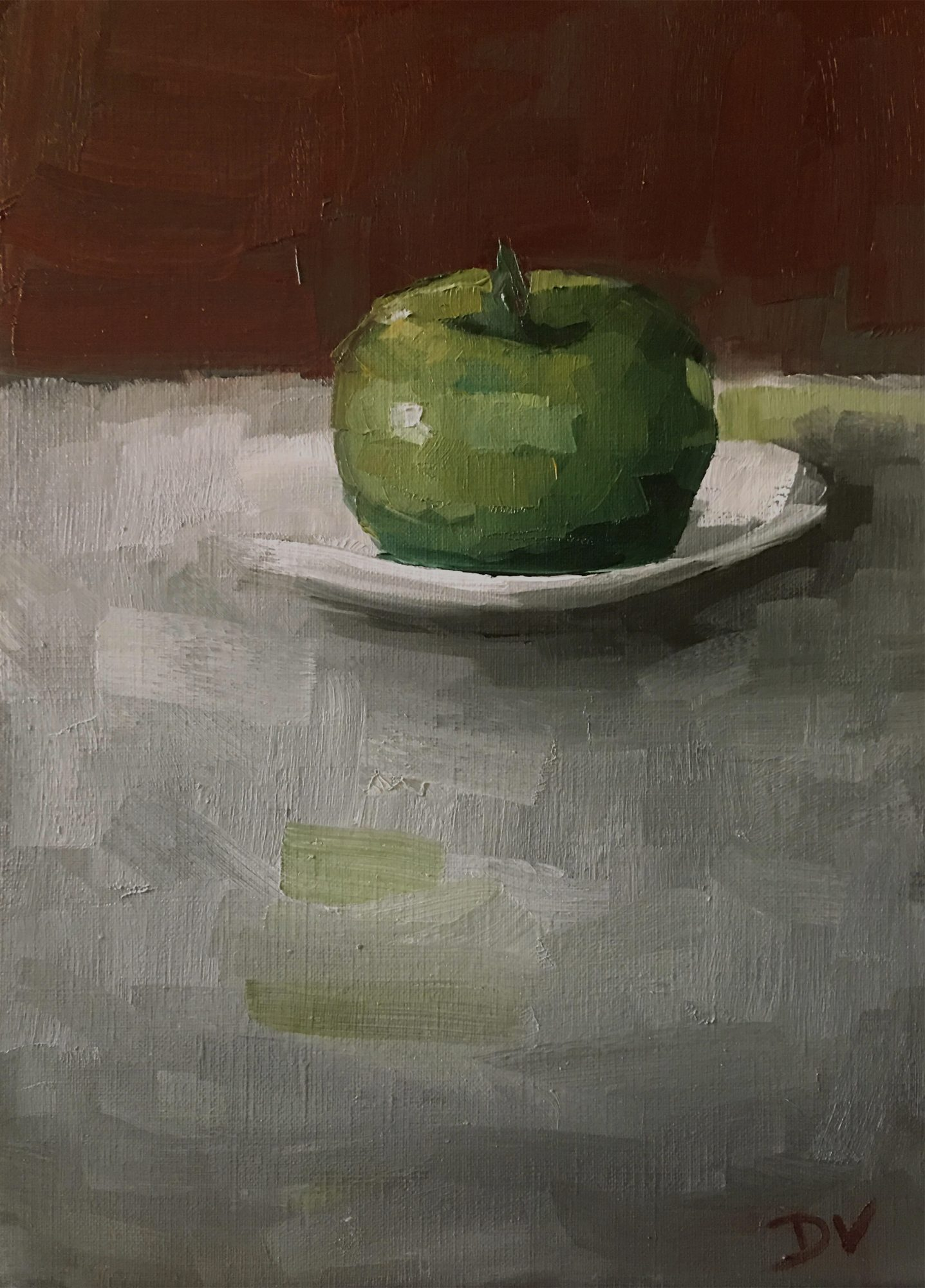 Apple With Plate