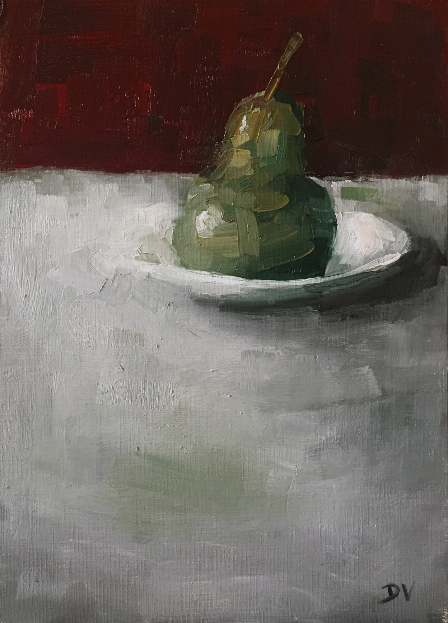 Pear With Plate