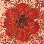 Abstract Red Flower CZ18036