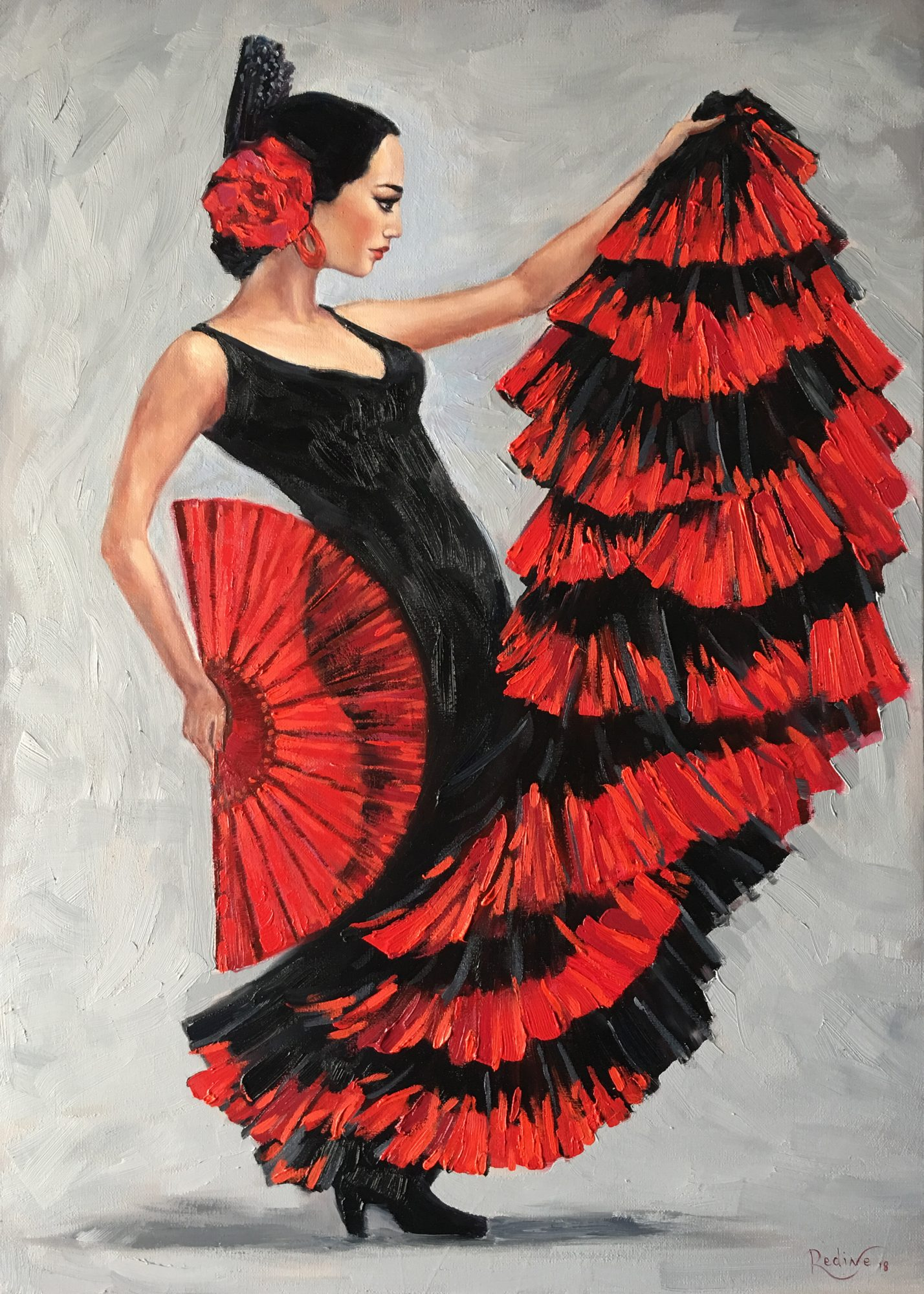 Flamenco Dancer Fan