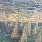 Abstract Sail Boats CZ18031