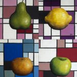 Mondrian Still life – Set of four
