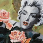 St Marilyn des Roses Ltd Ed print on canvas