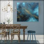 Teal Gold Painting Mingle