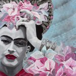 St Frida du Bougainvillier – Ltd Ed Print on Canvas