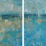 Aquamarine dream diptych