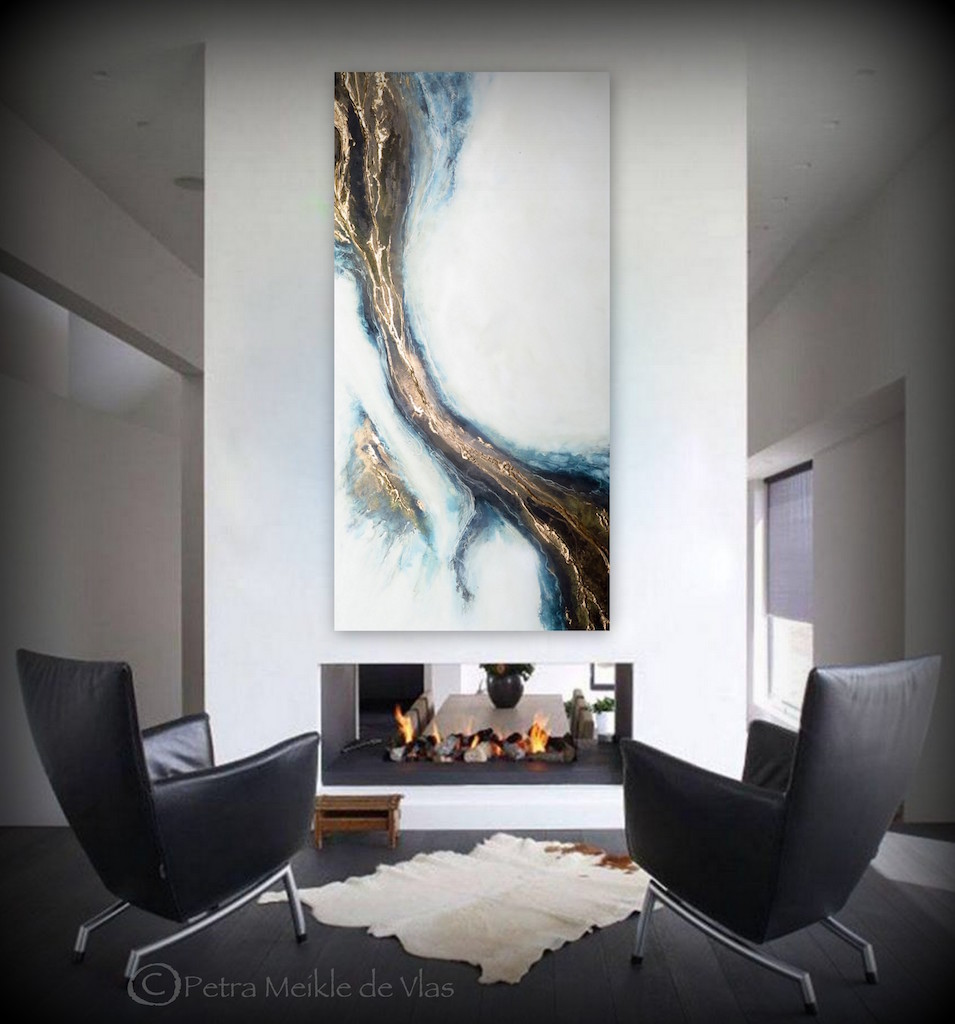 """Large Abstract Wall Art For Sale """"connection"""" By Petra Meikle De Vlas"""