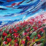Poppy Field – Large Abstract Landscape