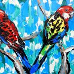 Crimson and Eastern Rosellas