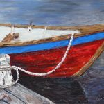 Red Wooden Boat