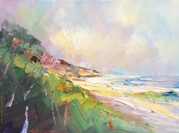 132 Summer At Sorrento Back Beach 2, Size 30.5x23= $ 350.00