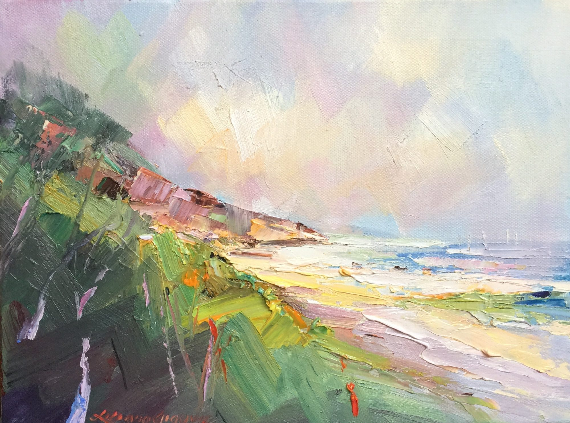 132 Summer At Sorrento Back Beach 2, Size 30.5×23= $ 350.00